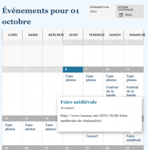 Page-Evenements