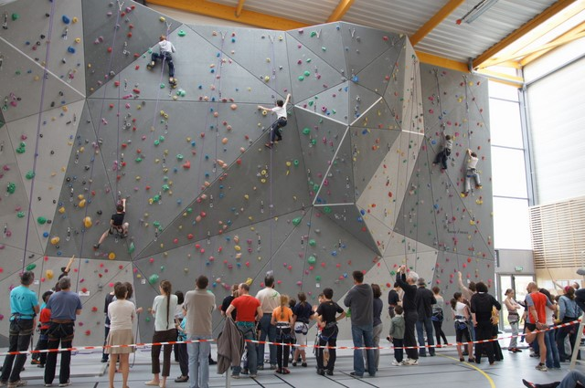 Comp tition d 39 escalade au gymnase christian marty cosec for Fenetre mur mitoyen