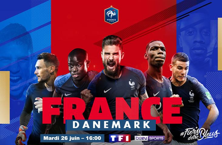 Diffusion coupe du monde – France Danemark
