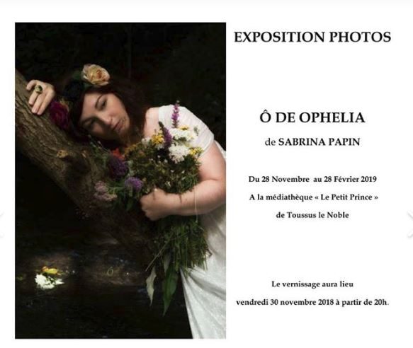 Vernissage photo - O de OPhelia de Sabrina Papin
