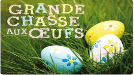 Chasse aux oeufs le dimanche de Pâques