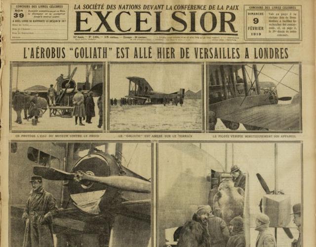 1919 - 1er Vol du Goliath entre Toussus et Londres
