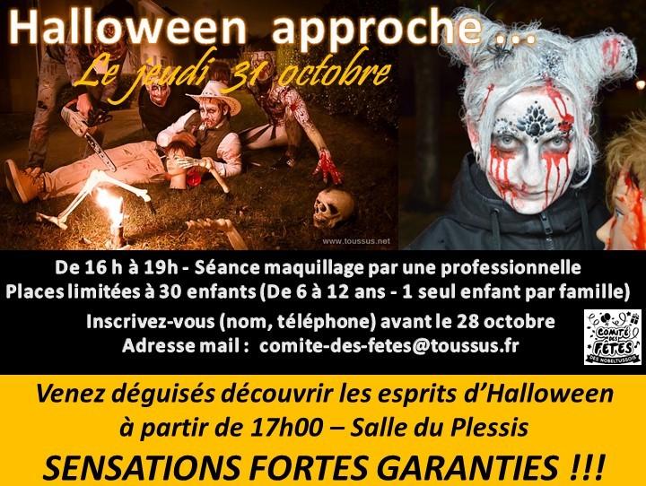 Soirée Halloween le Jeudi 31 Octobre