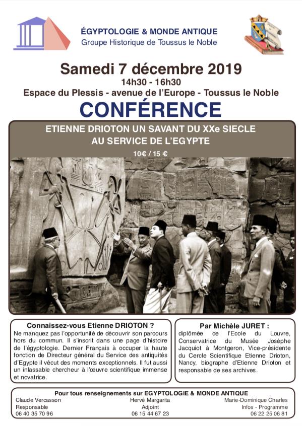 Conférence de M. Juret sur l'égyptologue Étienne Drioton